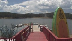 view from Angel Fire Resort - Monte Verde Lake on 2018-07-19