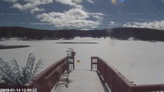 view from Angel Fire Resort - Monte Verde Lake on 2019-01-14