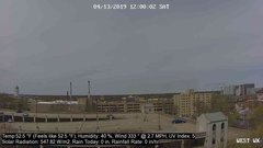 view from University Place Apartments - West Weather on 2019-04-13