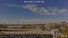 view from University Place Apartments - West Weather on 2019-04-21