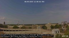 view from University Place Apartments - West Weather on 2019-08-09