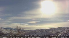 view from Horseshoe Bend, Idaho CAM2 on 2019-02-08