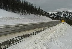 view from 4 - Highway 50 Road Conditions on 2019-02-04