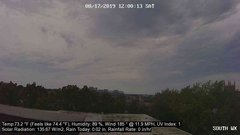 view from University Place Apartments - South Weather on 2019-08-17