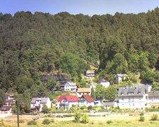 view from Webcam in Bad Schandau, Krippen & Postelwitz on 2018-08-06