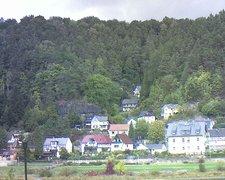 view from Webcam in Bad Schandau, Krippen & Postelwitz on 2018-10-03