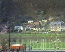 view from Webcam in Bad Schandau, Krippen & Postelwitz on 2019-04-13