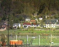 view from Webcam in Bad Schandau, Krippen & Postelwitz on 2019-04-15