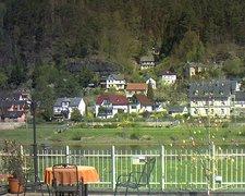 view from Webcam in Bad Schandau, Krippen & Postelwitz on 2019-04-19