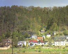 view from Webcam in Bad Schandau, Krippen & Postelwitz on 2019-04-20