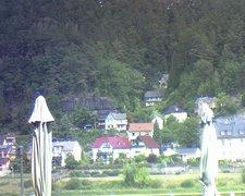 view from Webcam in Bad Schandau, Krippen & Postelwitz on 2019-08-08