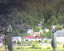 view from Webcam in Bad Schandau, Krippen & Postelwitz on 2019-08-11