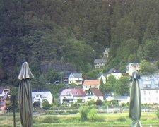 view from Webcam in Bad Schandau, Krippen & Postelwitz on 2019-08-15