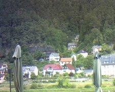 view from Webcam in Bad Schandau, Krippen & Postelwitz on 2019-08-17