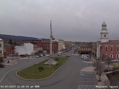 view from 13 East Market Street - Lewistown PA (west) on 2019-01-07