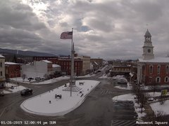 view from 13 East Market Street - Lewistown PA (west) on 2019-01-20