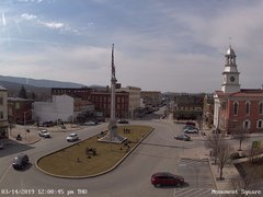 view from 13 East Market Street - Lewistown PA (west) on 2019-03-14