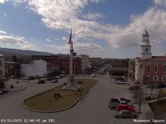view from 13 East Market Street - Lewistown PA (west) on 2019-03-15
