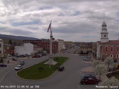 view from 13 East Market Street - Lewistown PA (west) on 2019-04-16