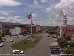 view from 13 East Market Street - Lewistown PA (west) on 2019-07-17