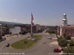 view from 13 East Market Street - Lewistown PA (west) on 2019-07-28