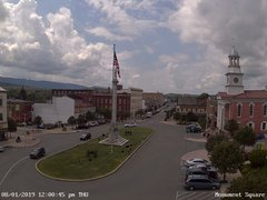 view from 13 East Market Street - Lewistown PA (west) on 2019-08-01