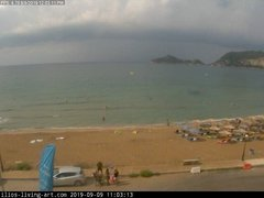 view from Agios Georgios NW Corfu Greece on 2019-09-09