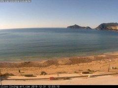 view from Agios Georgios NW Corfu Greece on 2019-12-31