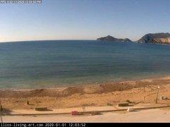 view from Agios Georgios NW Corfu Greece on 2020-01-01