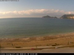 view from Agios Georgios NW Corfu Greece on 2020-01-18