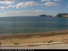view from Agios Georgios NW Corfu Greece on 2020-02-09