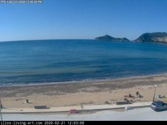 view from Agios Georgios NW Corfu Greece on 2020-02-21