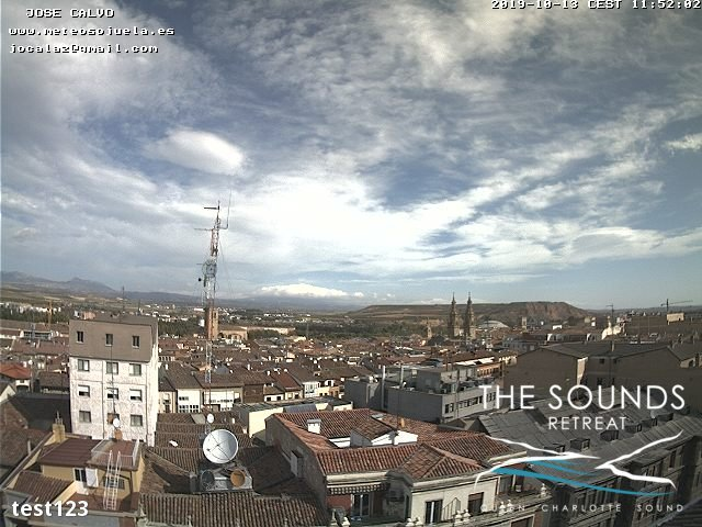 time-lapse frame, 2019-10-13 12:00-19:49 webcam