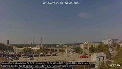 view from University Place Apartments - West Weather on 2019-09-16