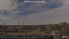 view from University Place Apartments - West Weather on 2020-02-03