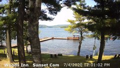 view from 4th Lake, Inlet, NY on 2020-07-04