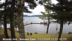 view from 4th Lake, Inlet, NY on 2020-07-11