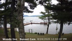 view from 4th Lake, Inlet, NY on 2020-08-24