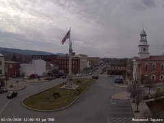 view from 13 East Market Street - Lewistown PA (west) on 2020-02-20