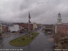 view from 13 East Market Street - Lewistown PA (west) on 2020-03-23