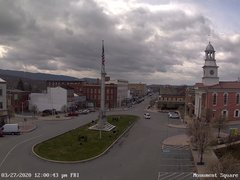 view from 13 East Market Street - Lewistown PA (west) on 2020-03-27