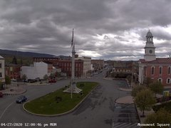 view from 13 East Market Street - Lewistown PA (west) on 2020-04-27