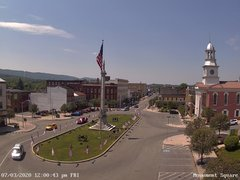 view from 13 East Market Street - Lewistown PA (west) on 2020-07-03