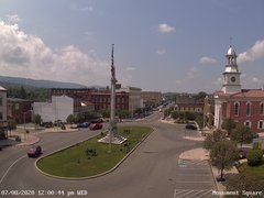 view from 13 East Market Street - Lewistown PA (west) on 2020-07-08