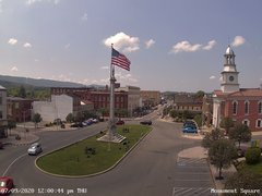 view from 13 East Market Street - Lewistown PA (west) on 2020-07-09