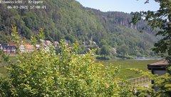 view from Webcam in Bad Schandau Sächsische Schweiz on 2021-06-03