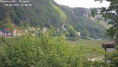 view from Webcam in Bad Schandau Sächsische Schweiz on 2021-06-06