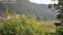 view from Webcam in Bad Schandau Sächsische Schweiz on 2021-06-07