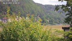view from Webcam in Bad Schandau Sächsische Schweiz on 2021-06-10