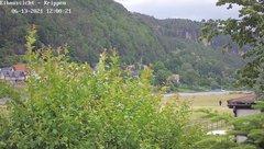 view from Webcam in Bad Schandau Sächsische Schweiz on 2021-06-13